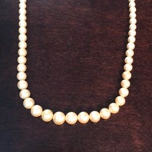 Vintage Marbella Glass Faux Pearl Necklace